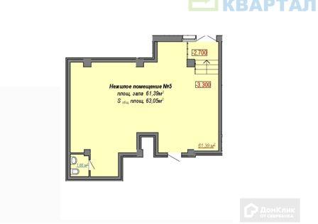 Продаётся торговое помещение, 63.05 м²