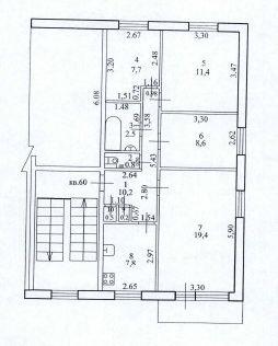 Продаётся 4-комнатная квартира, 69.1 м²