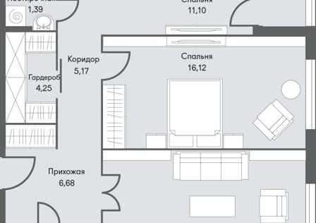 Продаётся 2-комнатная квартира, 75.1 м²
