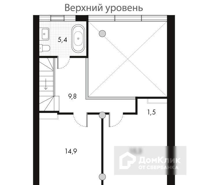 Продаётся 4-комнатная квартира, 99.8 м²