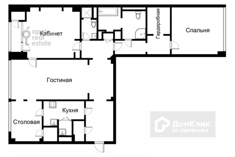 Продаётся 3-комнатная квартира, 141 м²