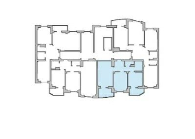Продаётся 2-комнатная квартира, 59.27 м²