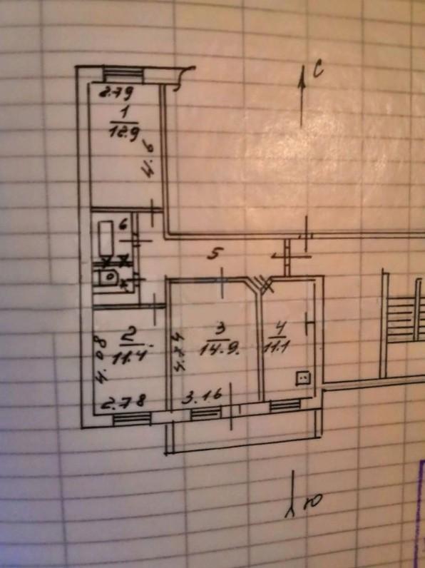 Купить 3-комнатную квартиру, 64.5 м² по адресу Калуга, бульвар Моторостроителей, 3, 8 этаж недорого в ДомКлик — поиск, проверка, безопасная сделка с жильем в офисе Сбербанка.